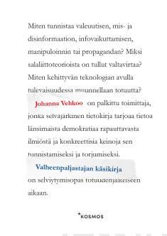 teoksen Valheenpaljastajan käsikirja kansikuva.