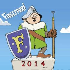 Fingerpori 2014 seinäkalenteri