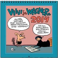 Viivi ja Wagner 2014 seinäkalenteri