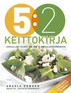 5:2 keittokirjaherkulliset ohjeet 100, 200 ja 300 kalorin aterioihin