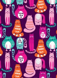 Muistikirja Colour CatsSisus viivallinen