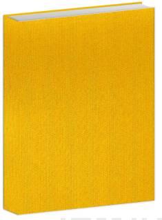 Bujo-muistikirja kirkas keltainen kangas