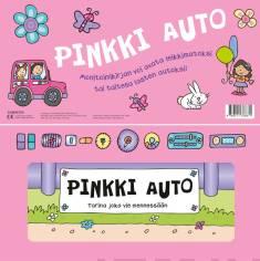 Pinkki autoMenopelit - taiteltava kirja